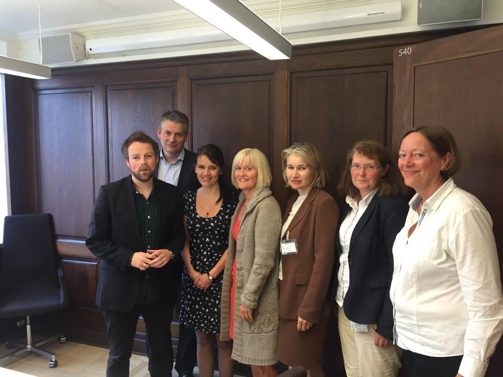 Representanter for YS, Delta, Norsk Industri, Unio og Spekter møtte kunnskapsminister Torbjørn Røe Isaksen.