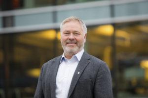 En smilende YS-leder Erik Kollerud