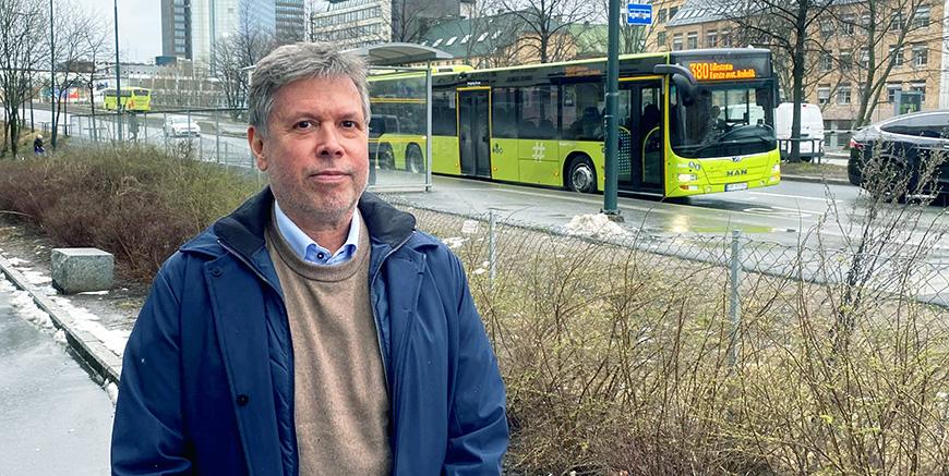 Forbundsleder i Yrkestrafikkforbundet Jim Klungnes. Foto: YTF
