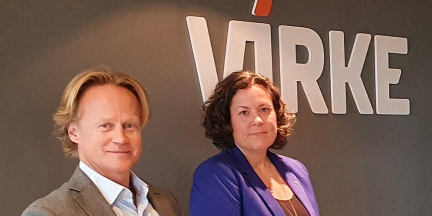 Spesialrådgiver Tor André Sunde i Finansforbundet og forbundsstyremedlem og hovedtilllitsvalgt i Lindorff Nina Syvertsen.